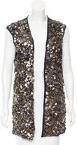 Catherine Malandrino Sequined Open-Front Vest w/ Tags
