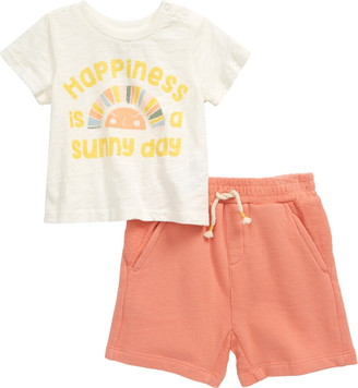 Peek Aren't You Curious Johnny Happiness Graphic Tee & Shorts Set