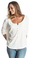 Roxy Juniors Current Carry Long Sleeve Henley T-Shirt