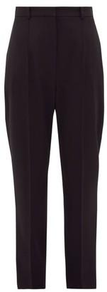 Alexander McQueen Tailored Grain-de-poudre Wool Cigarette Trousers - Black