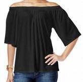 Michael Kors Black Women's Small S Smocked Off-The-Shoulder Blouse