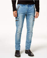 GUESS Men's Slim-Fit Tapered Stretch Flight Jeans