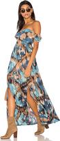 Tiare Hawaii Hollie Off The Shoulder Maxi Dress