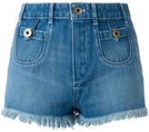 Chloé washed denim shorts - women - Cotton/Polyester - 38