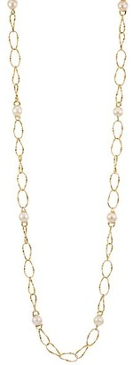 Marco Bicego Marrakech Onde 18K Yellow Gold & 10MM Pearl Coil-Link Long Necklace