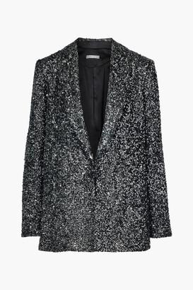 Alice + Olivia Jace Oversized Sequined Silk Blazer
