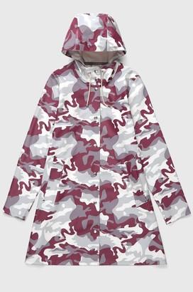 Stutterheim Mosebacke Womens Red Camo Raincoat - xxxs