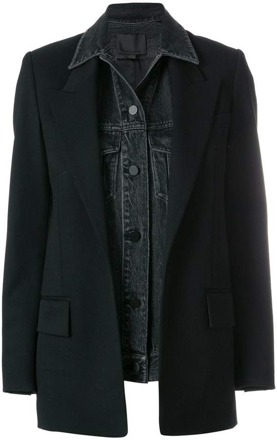 Alexander Wang denim blazer jacket
