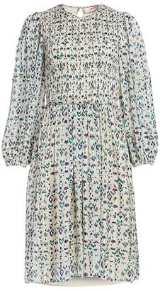 Etoile Isabel Marant Eulie Print Smocked Dress