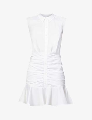 Veronica Beard Ruched cotton shirt-dress