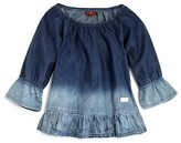 7 For All Mankind Girls' Dip Dyed Chambray Top - Big Kid