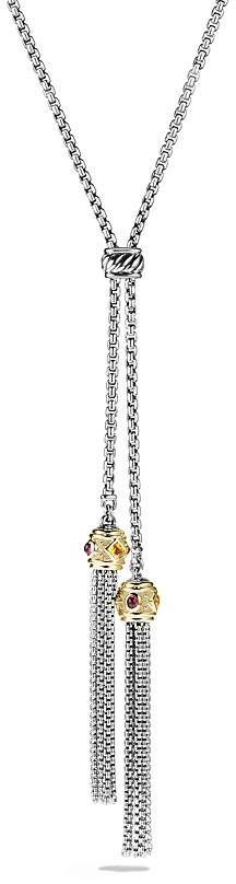 David Yurman Renaissance Tassel Necklace with 14K Yellow Gold