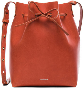 Mansur Gavriel Bucket Bag in Brandy | FWRD