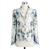 J.Crew Collection schoolboy blazer in shadow floral