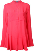 Jil Sander Navy chest pocket shirt - women - Silk/Acetate - 34