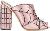 Marco De Vincenzo spider web mules - women - Silk Satin/Leather - 36