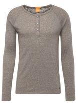 Hugo Boss Tambow Cotton Long Sleeve Burnout T-Shirt M Green