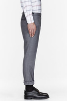 Thom Browne Grey pleated trousers