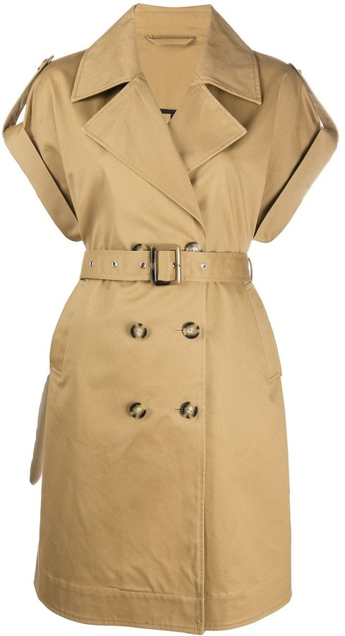 Pinko Short-Sleeve Double-Breasted Coat