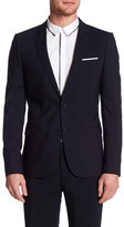 The Kooples Attached Pocket Square Suit Jacket