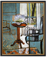 Forget-Me-Nots in the Window by Henri Matisse (Framed Giclee)