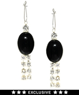 Susan Caplan Vintage Exclusive For ASOS Vintage Diamante Tassel Earrings