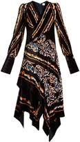 Peter Pilotto Scarf graphic-print velvet dress