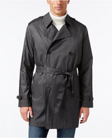 Kenneth Cole New York Men's Ridge Microdot Water Repellent Double Breasted Trench Coat