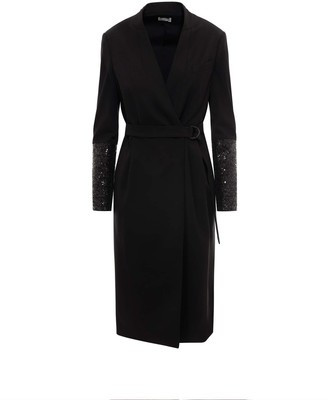 Brunello Cucinelli Sequinned Sleeve Dress