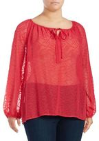 Kate Hill Claudia Jacquard Peasant Top