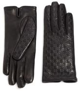 Gucci Logo-Embossed Leather Gloves