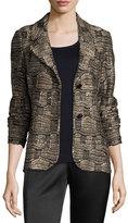 St. John Gilded Geo Tweed Knit Jacket