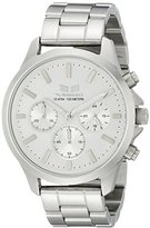 Vestal Unisex HEI3CM03 Heirloom Chrono Analog Display Analog Quartz Silver Watch
