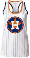 5th & Ocean Women's Houston Astros Pinstripe Glitter Tank Top