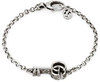 Gucci GG Silver Key Bracelet