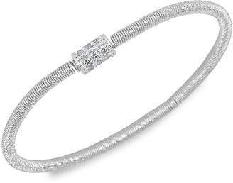 Saks Fifth Avenue Slinky 14K White Gold & Diamond Station Flexible Bracelet