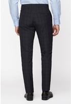 Jeff Banks Jeff Banks Check Brit Suit Trousers In Super Slim Fit - Blue