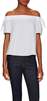 Timo Weiland Cotton Elasticized Off Shoulder Top