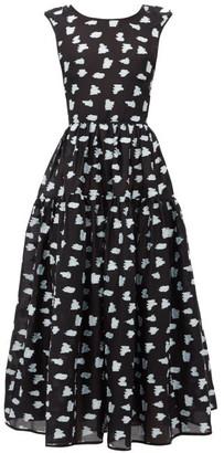 Cecilie Bahnsen Ruth Fil-coupe Dress - Black Multi