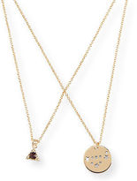 Aeropostale Womens Astrology Stud Earring & Necklace Set