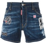 DSQUARED2 Sport Packo distressed patch shorts - men - Cotton/Polyester/Spandex/Elastane - 46
