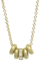 Tate Five Tiny Donuts Necklace with Diamonds - Yellow Gold