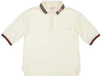 Gucci Cotton Piquet Polo W/ Embroidery