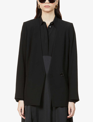 Reiss Tala collarless stretch-weave blazer