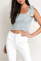 Pretty Little Things Gingham Tie Top