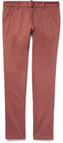 The Elder Statesman Slim-fit Cotton-twill Trousers - Brick