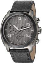 Esprit ES107551003 - Men's Watch, Leather, Black Tone