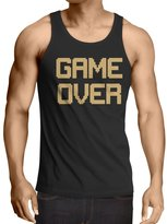 lepni.me Vest GAME OVER! Vintage t shirts funny gamer gifts gamer shirt ( Black Gold)