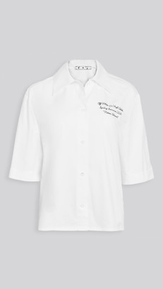 Off-White Popeline Bowling Shirt