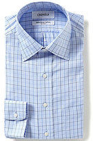 Daniel Cremieux Non-Iron Fitted Classic-Fit Spread-Collar Checked Oxford Dress Shirt